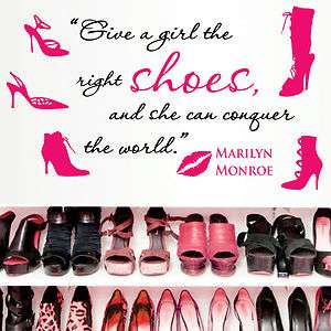 Vinyl Wall Decor Mural ~ MARILYN MONROE ~ Quote Decal *** SHOES