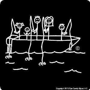 FISHING STICK PEOPLE FAMILY CAR DECALS STICKERS GRAPHICS