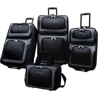 Traveler New Yorker 4 Piece Luggage Set   Black