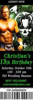 WWE Wrestling RAW Wrestlemania Ticket Party Invitations