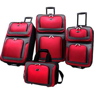 Traveler New Yorker 4 Piece Luggage Set   Red