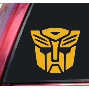 Transformers Autobot Vinyl Decal Sticker   Mustard